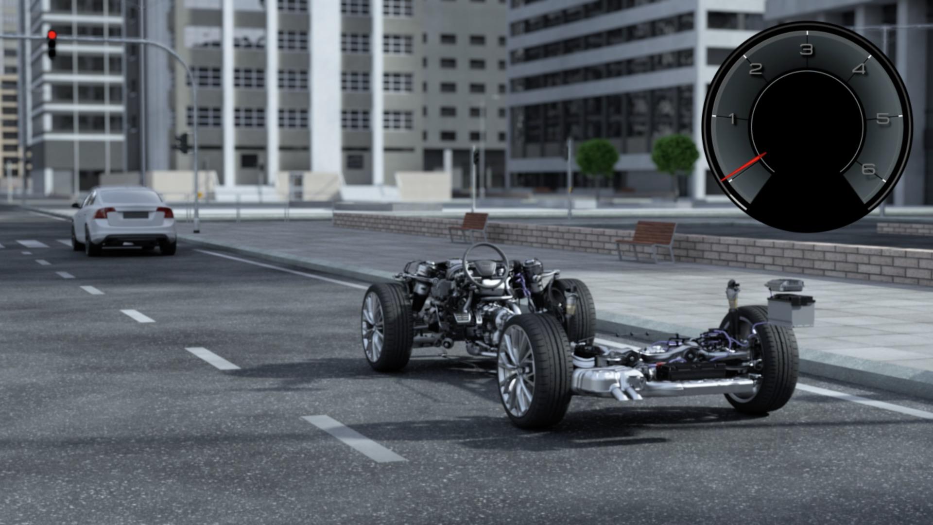 Audi A6 Avant Animation mild hybrid technology MHEV