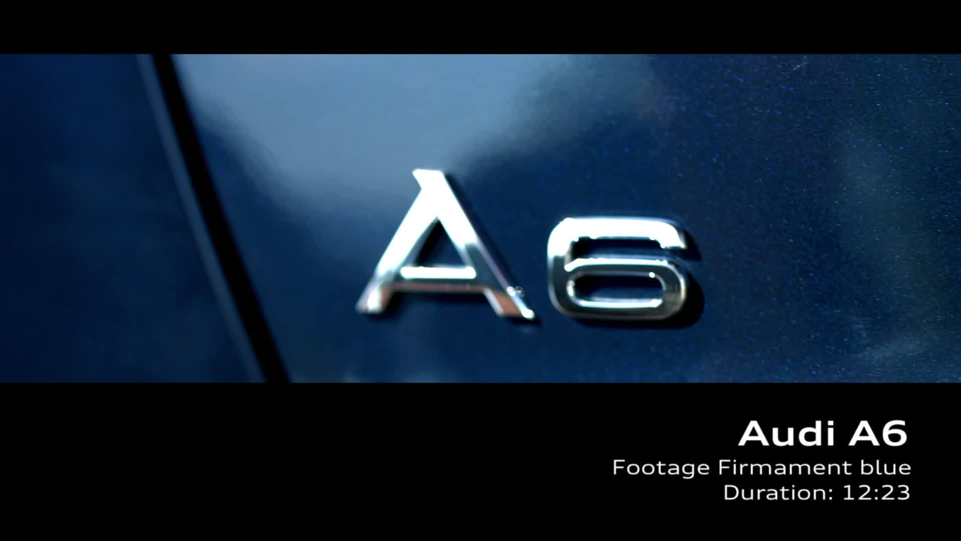 Audi A6 Footage Firmament blue