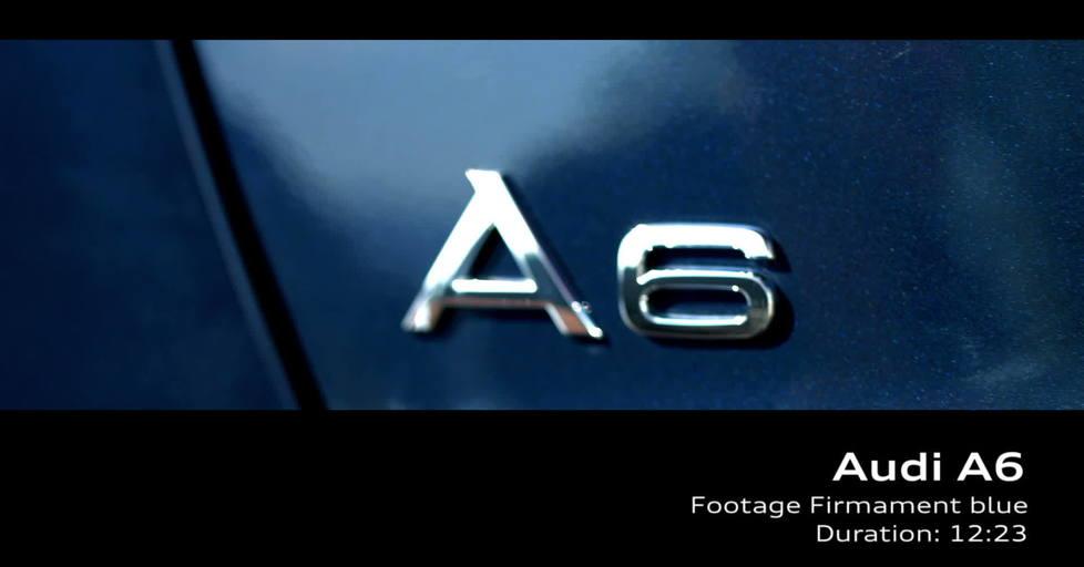 Audi A6 Footage Firmament Blue Video Audi Mediatv