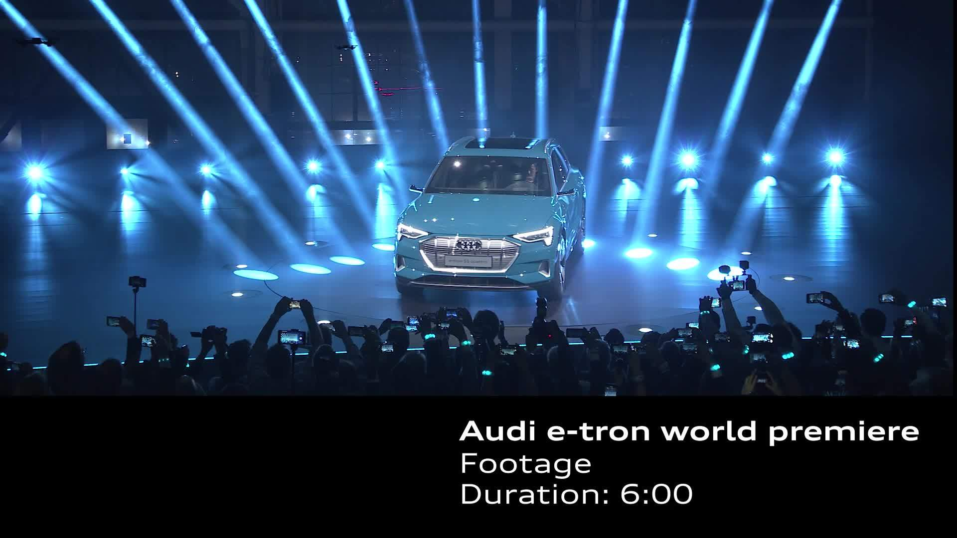 Audi e-tron world premiere footage event and Location