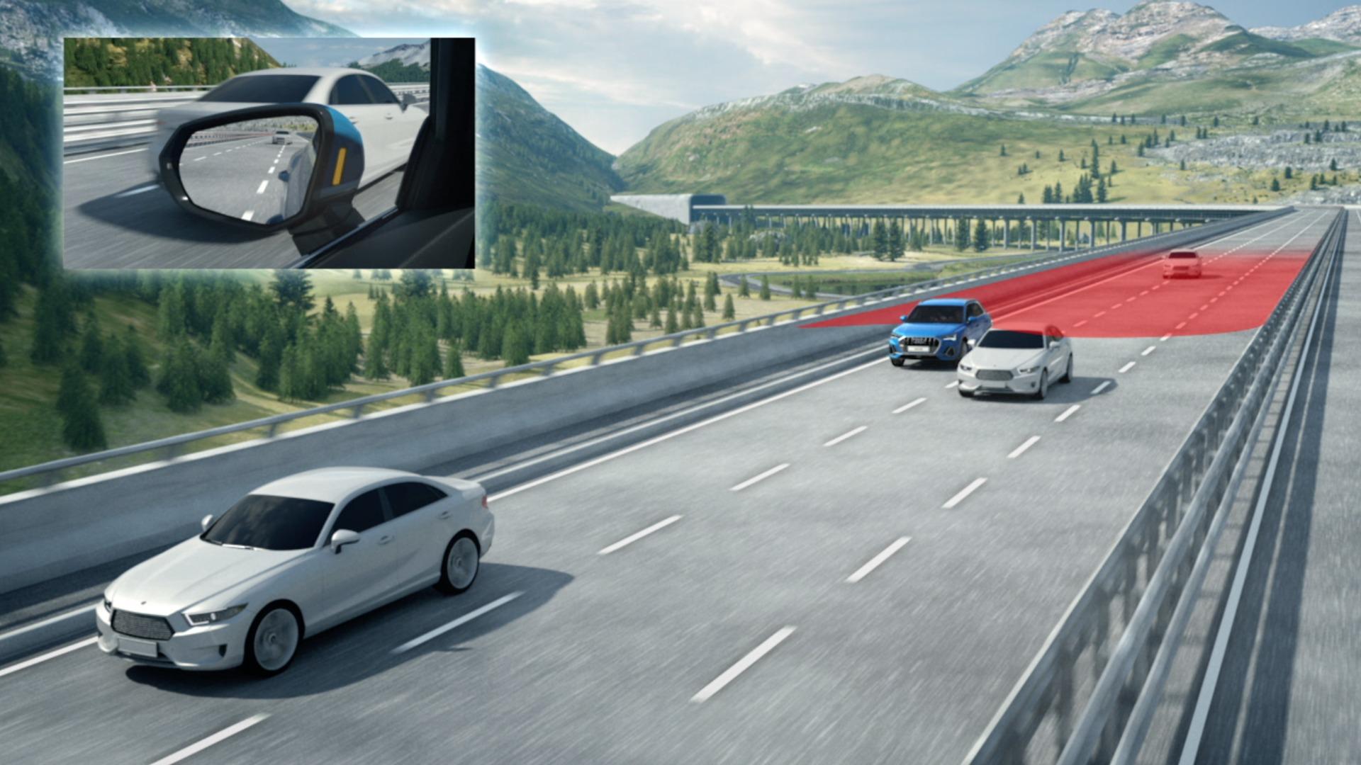Fahrerassistenzsysteme im Audi Q3 (Animation)