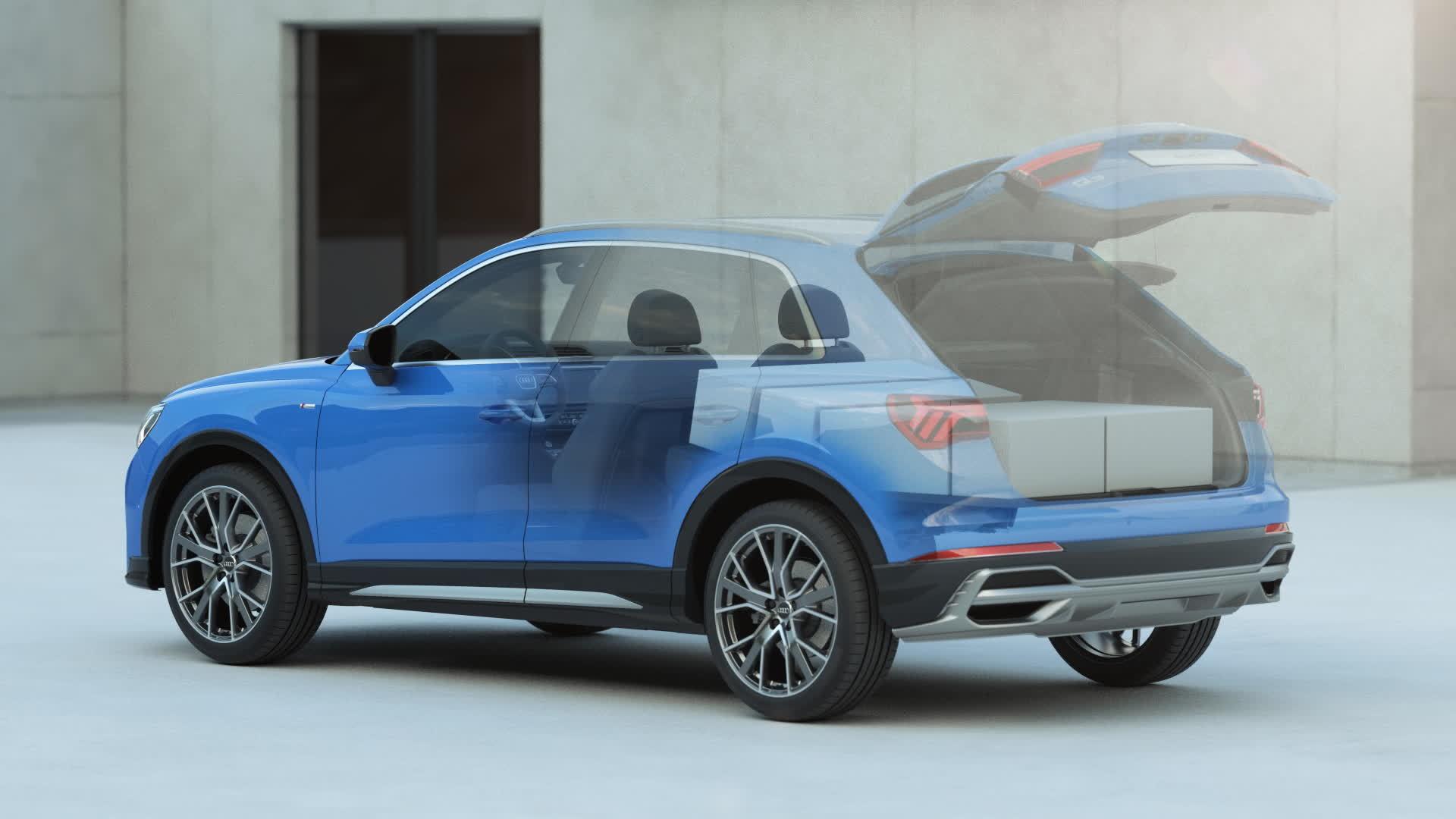 Audi Q3 Beladungs- und Innenraumkonzept (Animation)