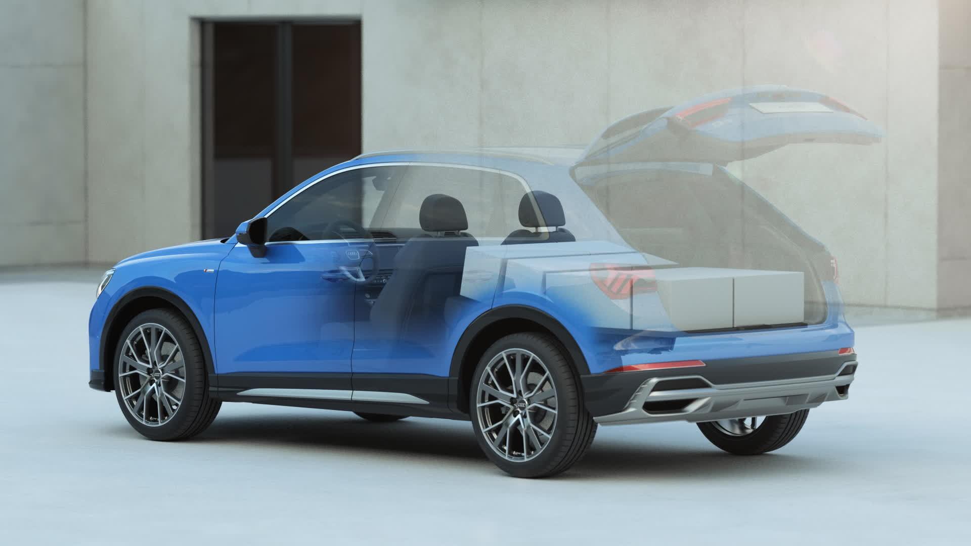 Audi Q3 loading and interior concept (animation)