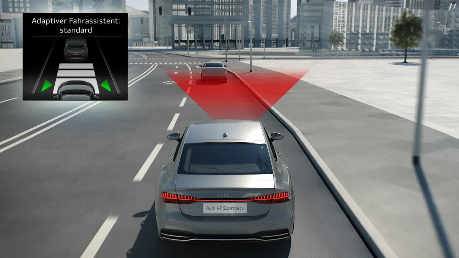 Audi A7 Animation Prädiktiver Effizienzassistent mit pACA