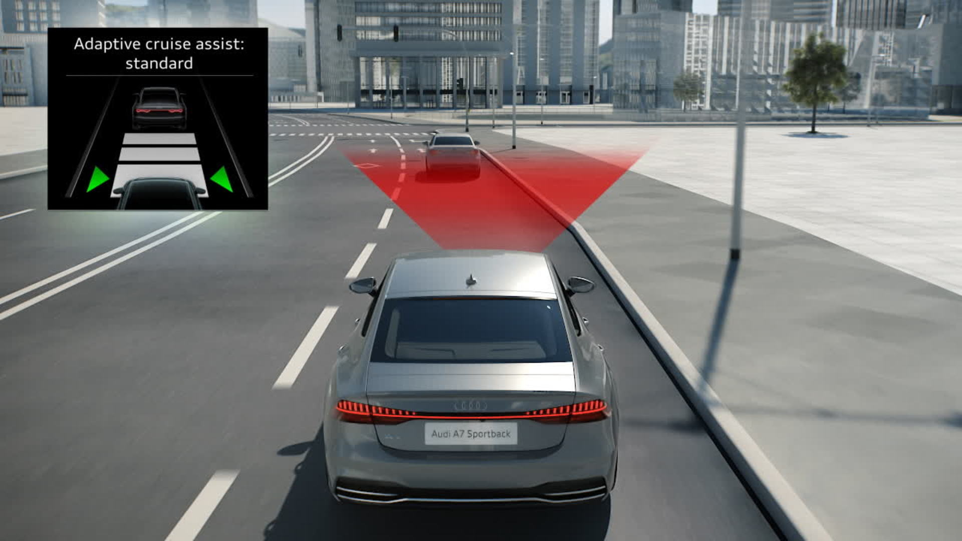 Audi A7 Animation predictive efficiency assistant with pACA