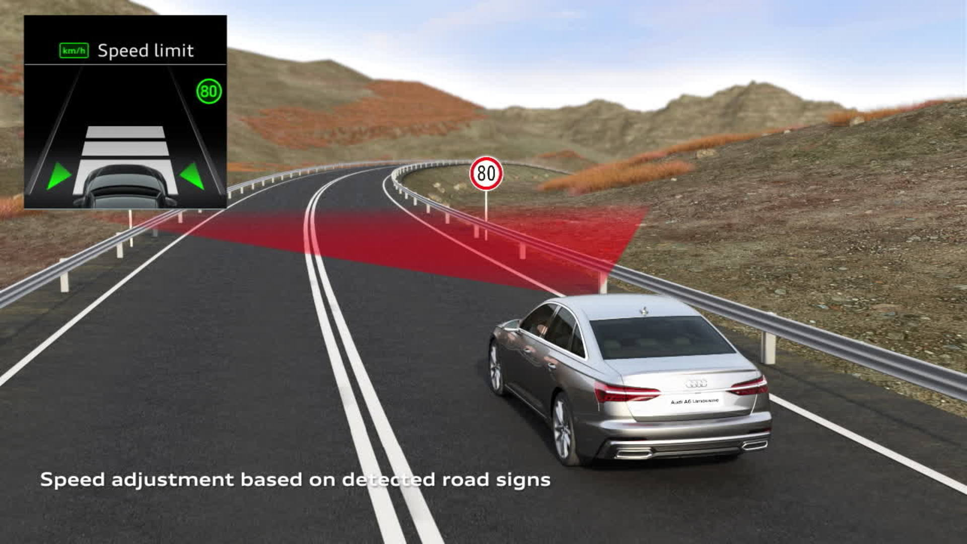 Animation Audi A6 Adaptive cruise assist