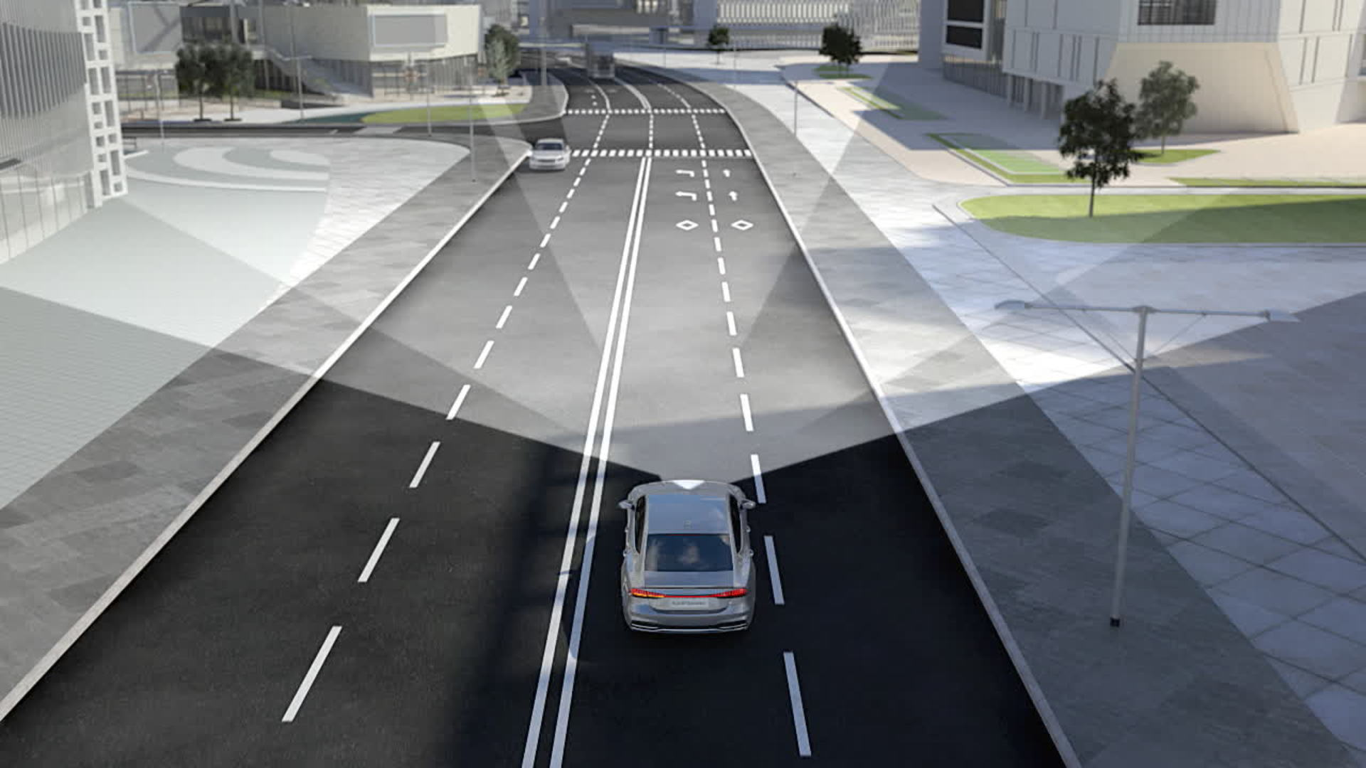 Audi A7 Animation Kreuzungs-und Abbiegeassistent