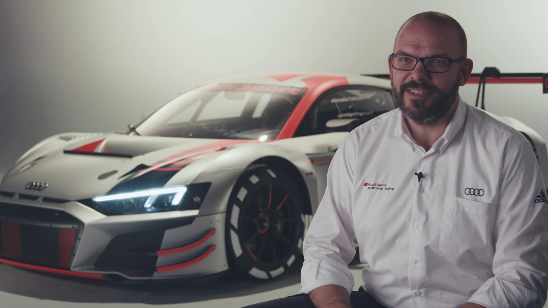 Die neue Evolutionsstufe des Audi R8 LMS (Footage)