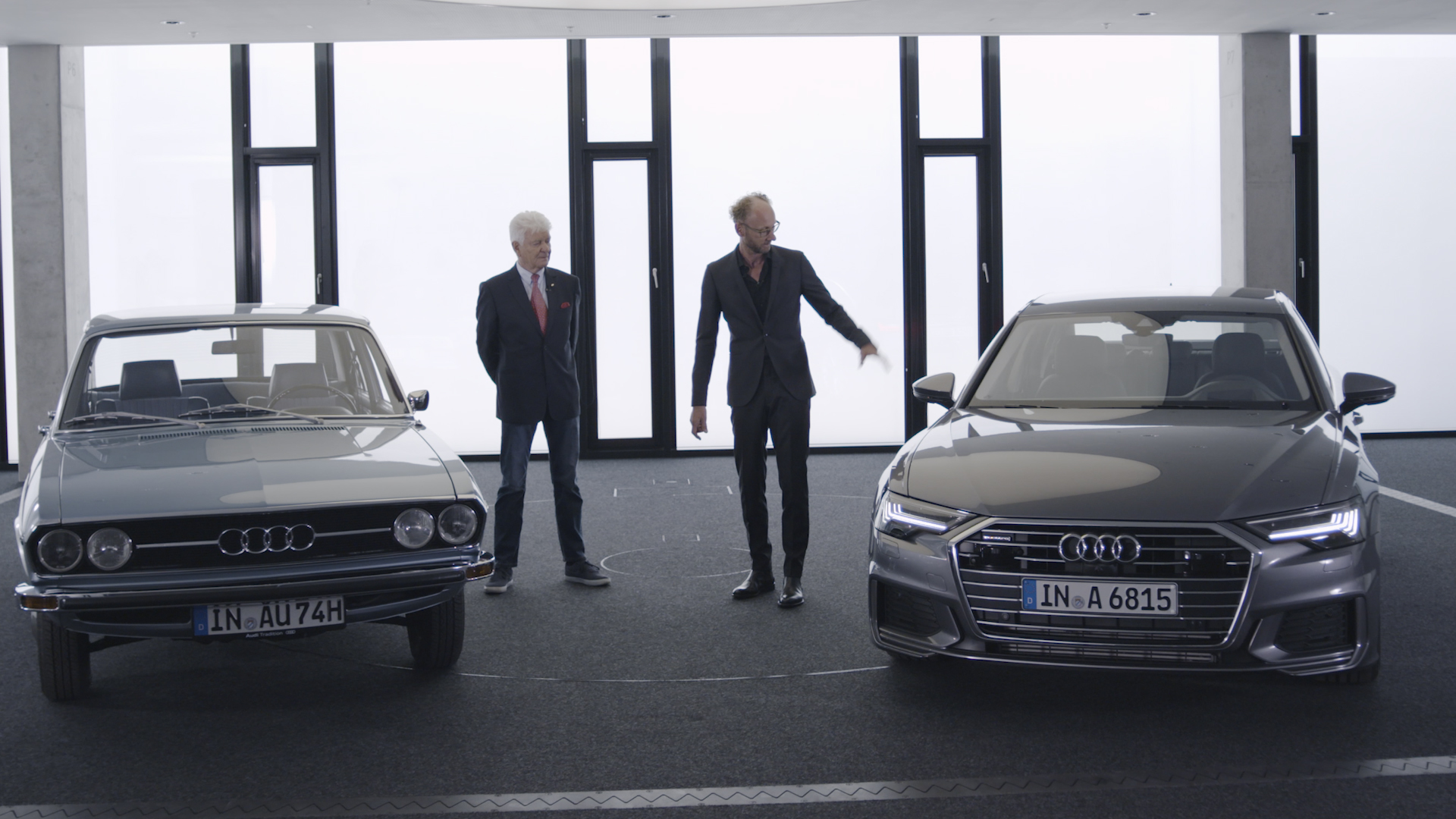 Früher, heute und morgen: 50 Jahre Audi 100