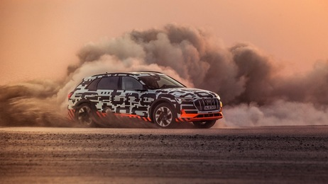 Power play: The Audi e-tron prototype in Namibia