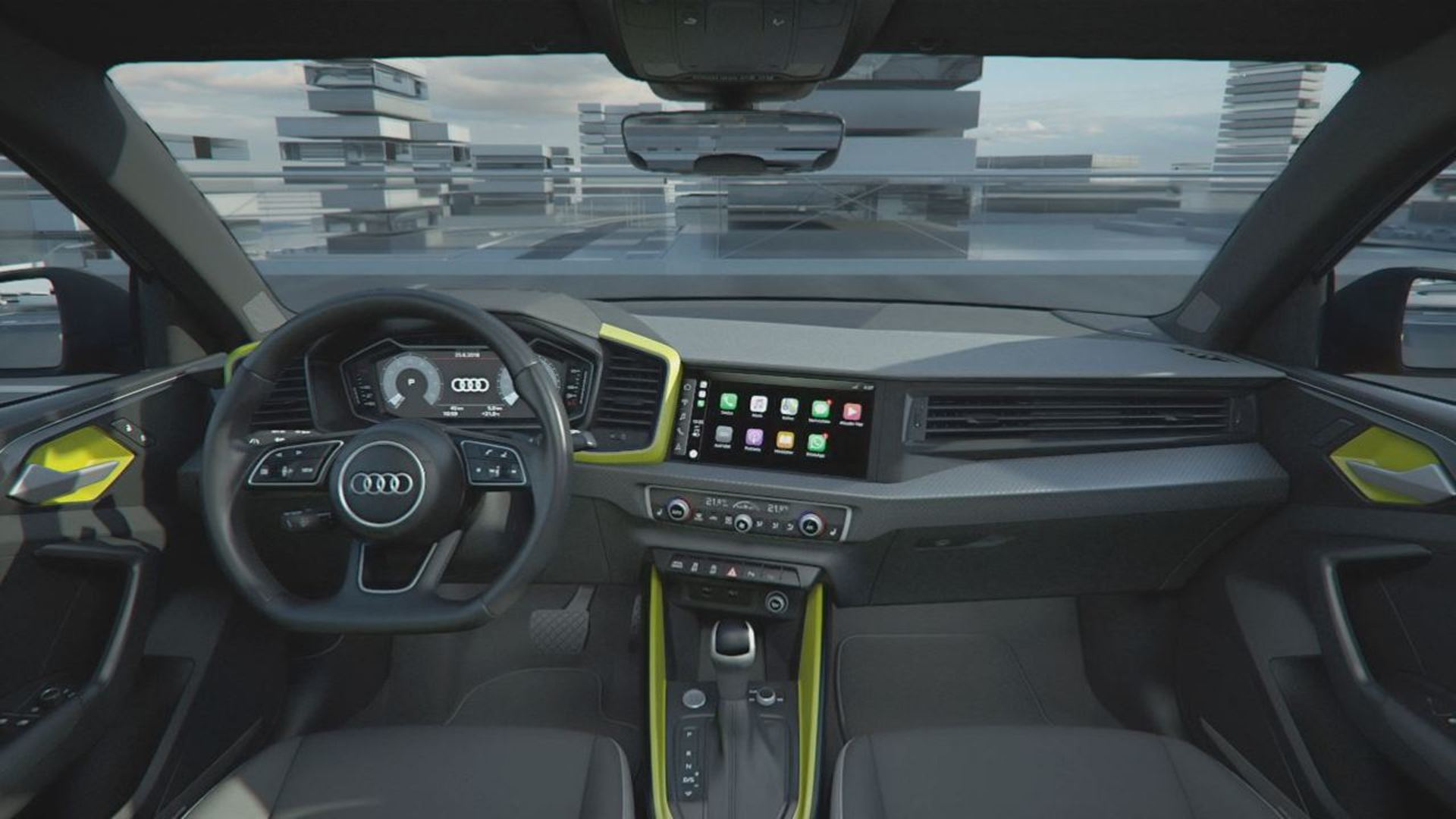 Audi A1 Sportback Infotainment /Connectivity LED-Headlight (Animation)