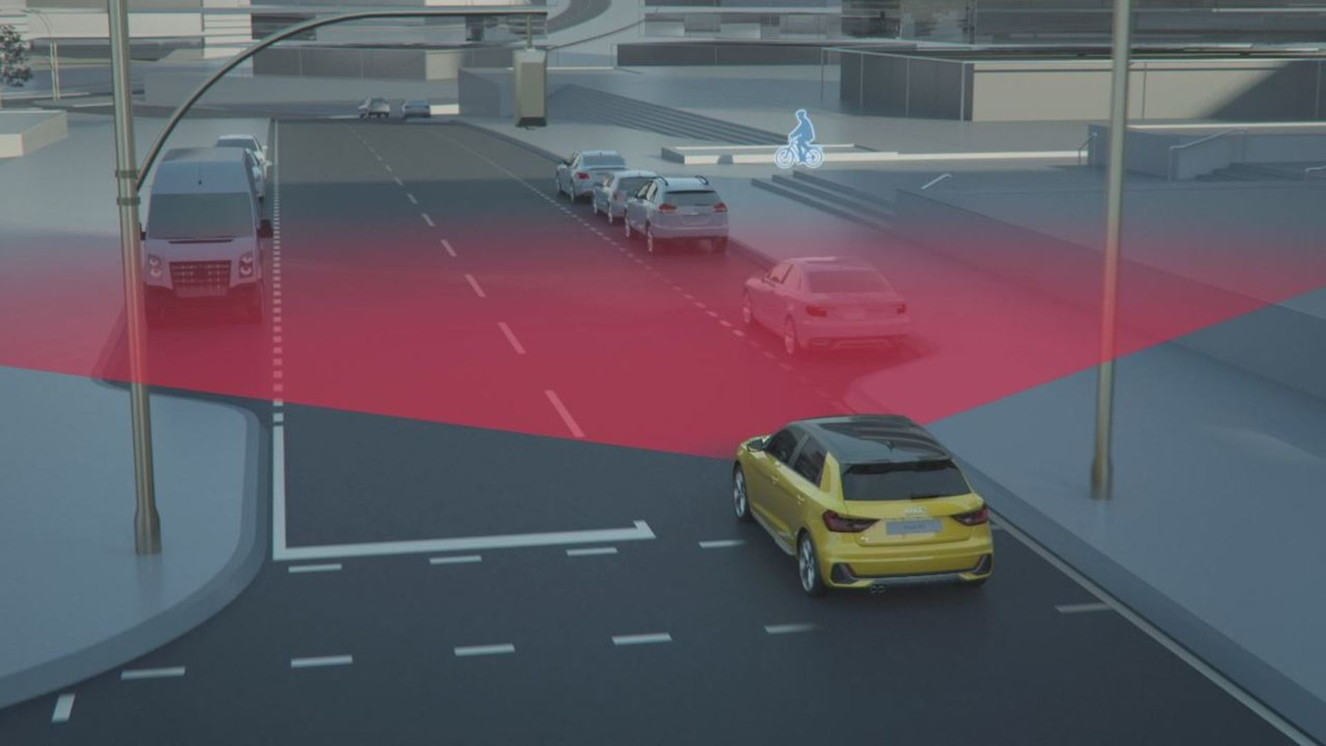 Audi A1 Sportback driver assistance systems (Animation)