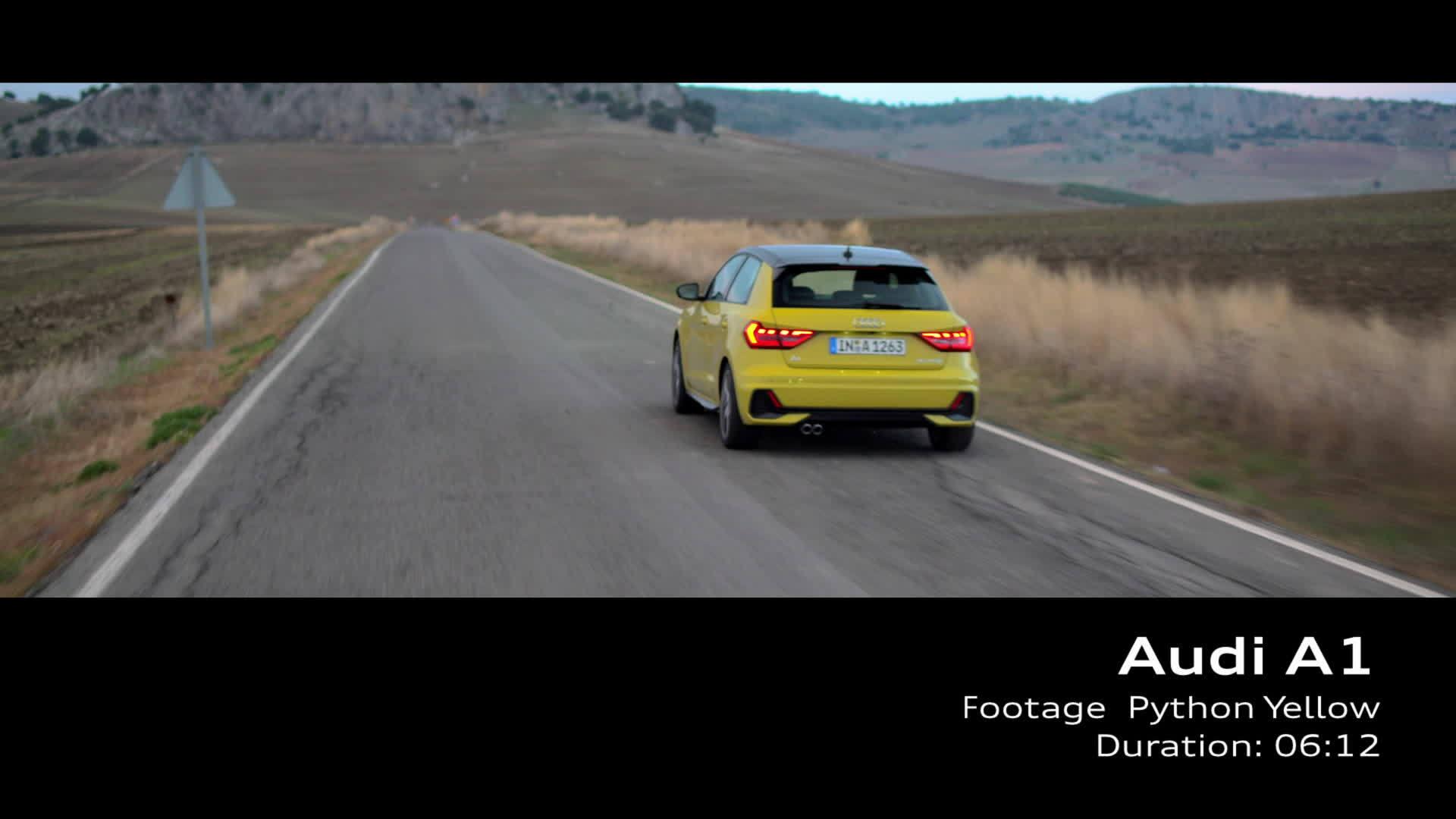 Audi A1 Footage Pythongelb (2018)