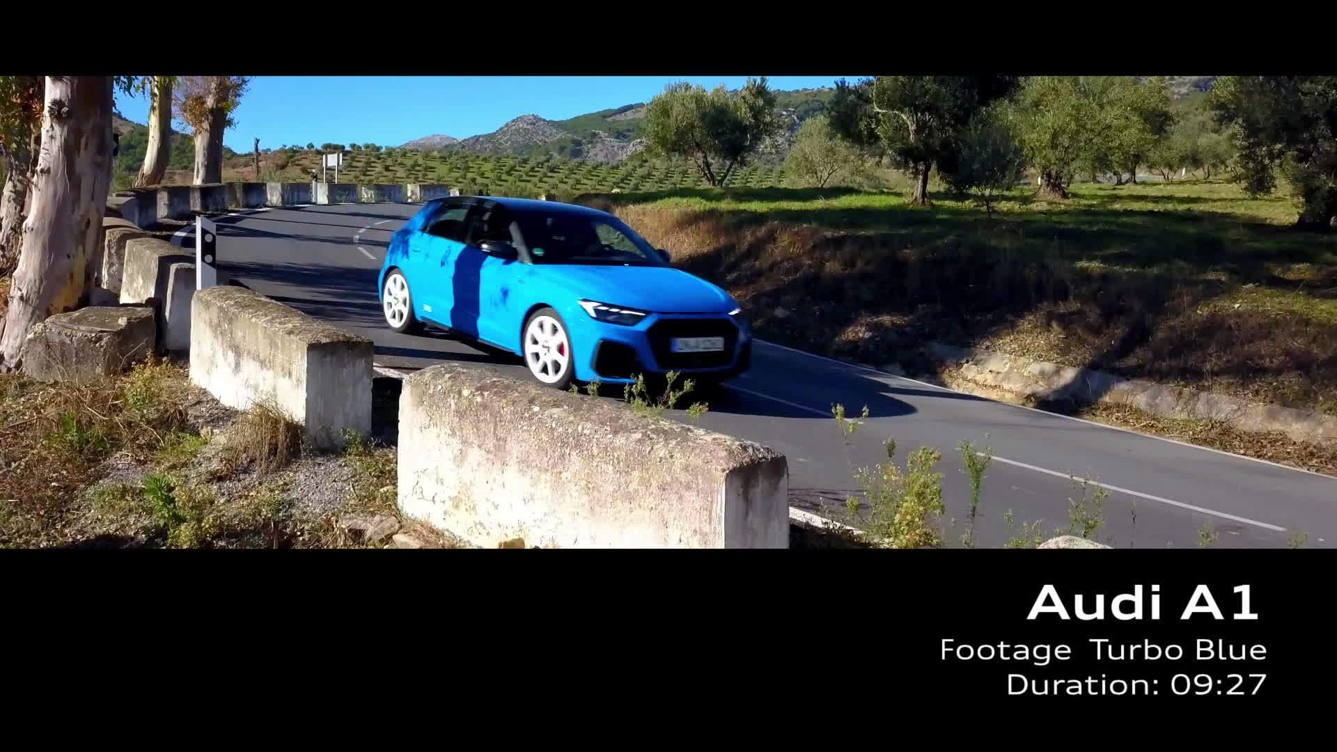 Audi A1 Footage Turboblau (2018)