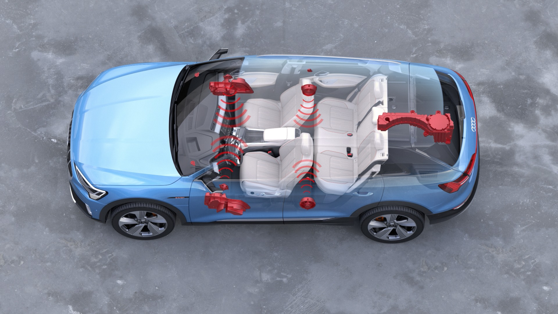 3D Sound of the Audi e-tron (animation)