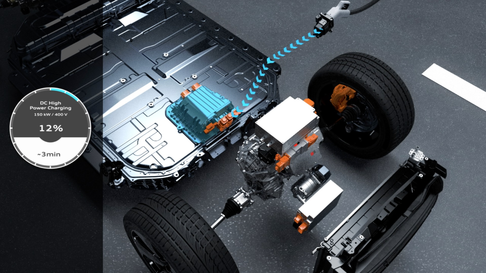 Charging and thermal management of the Audi e-tron (animation)