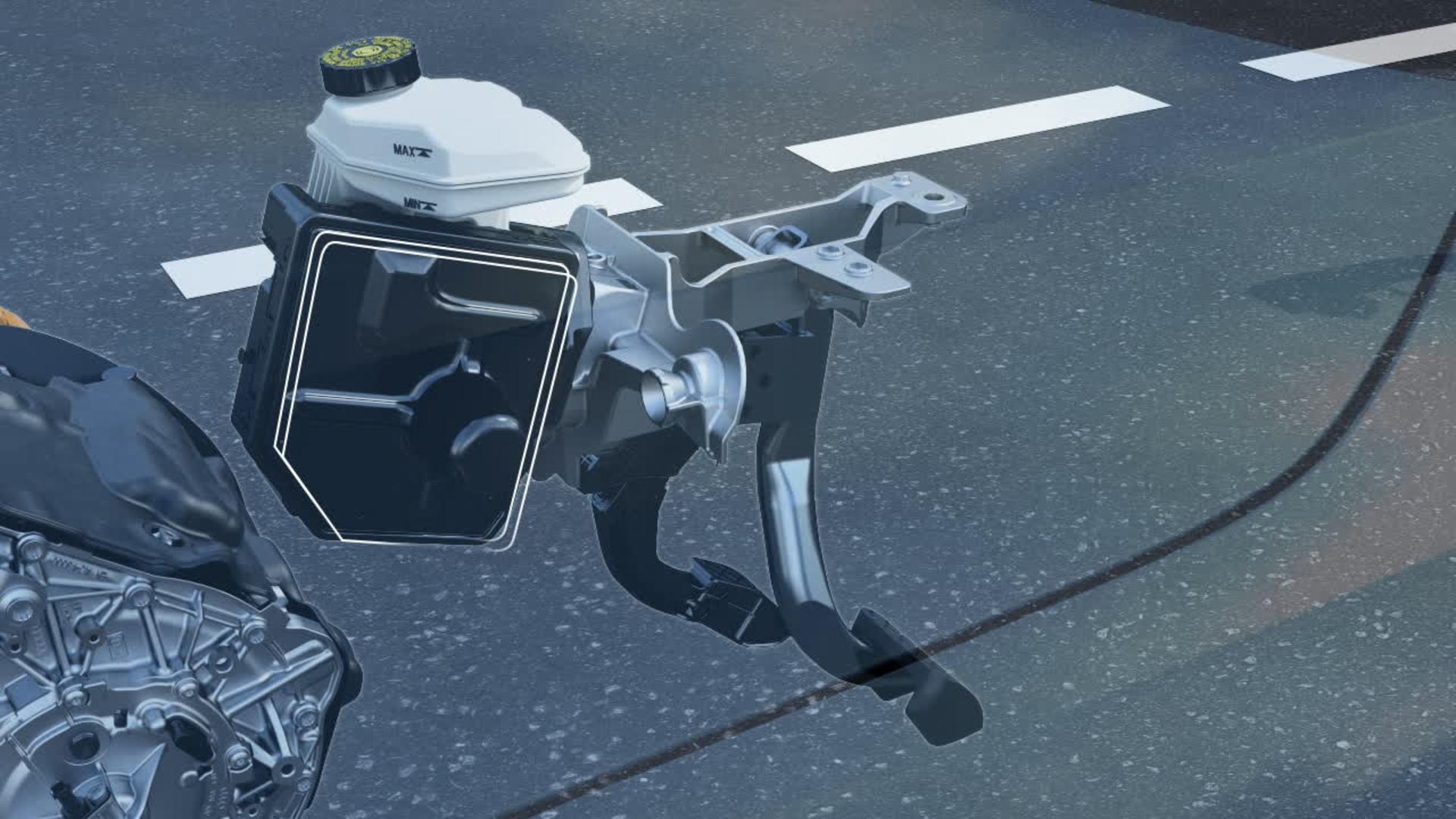 Brake-by-wire system of the Audi e-tron (animation) | Video | Audi MediaTV