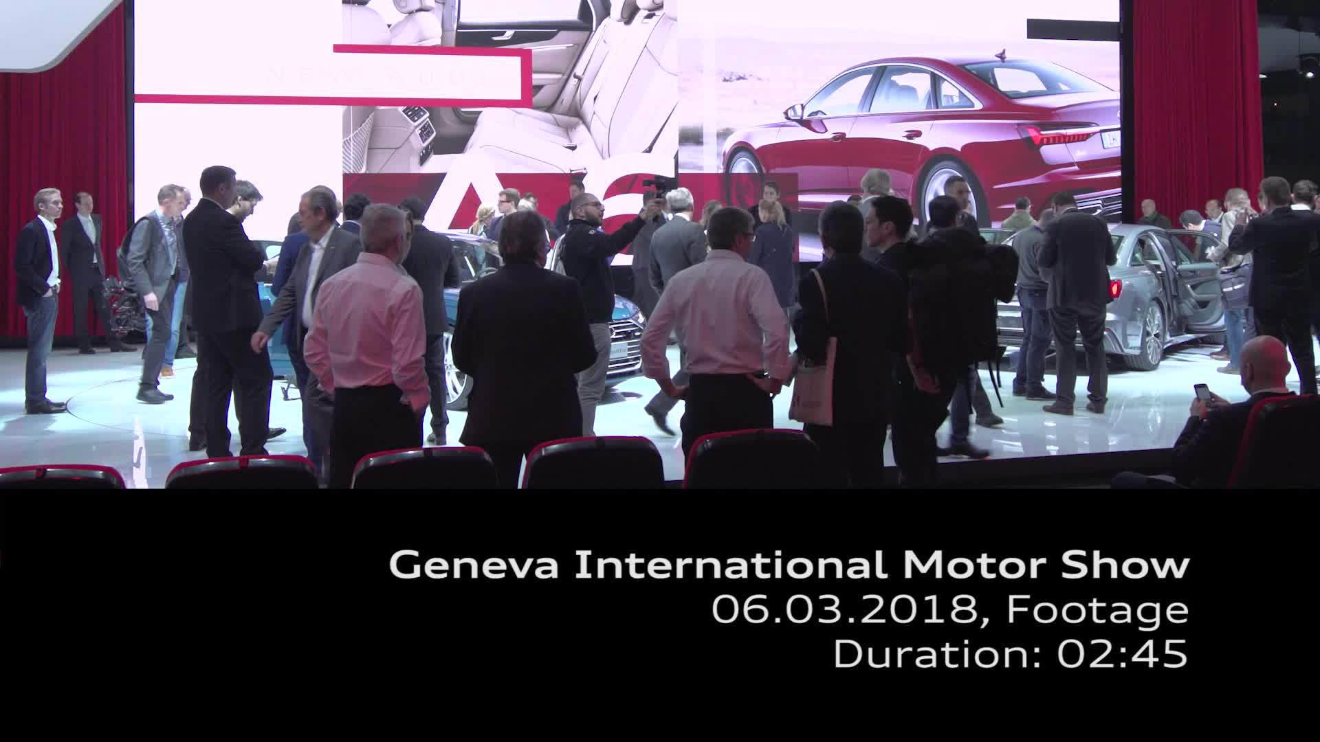 Footage Messestand Audi auf dem Genfer Salon 2018