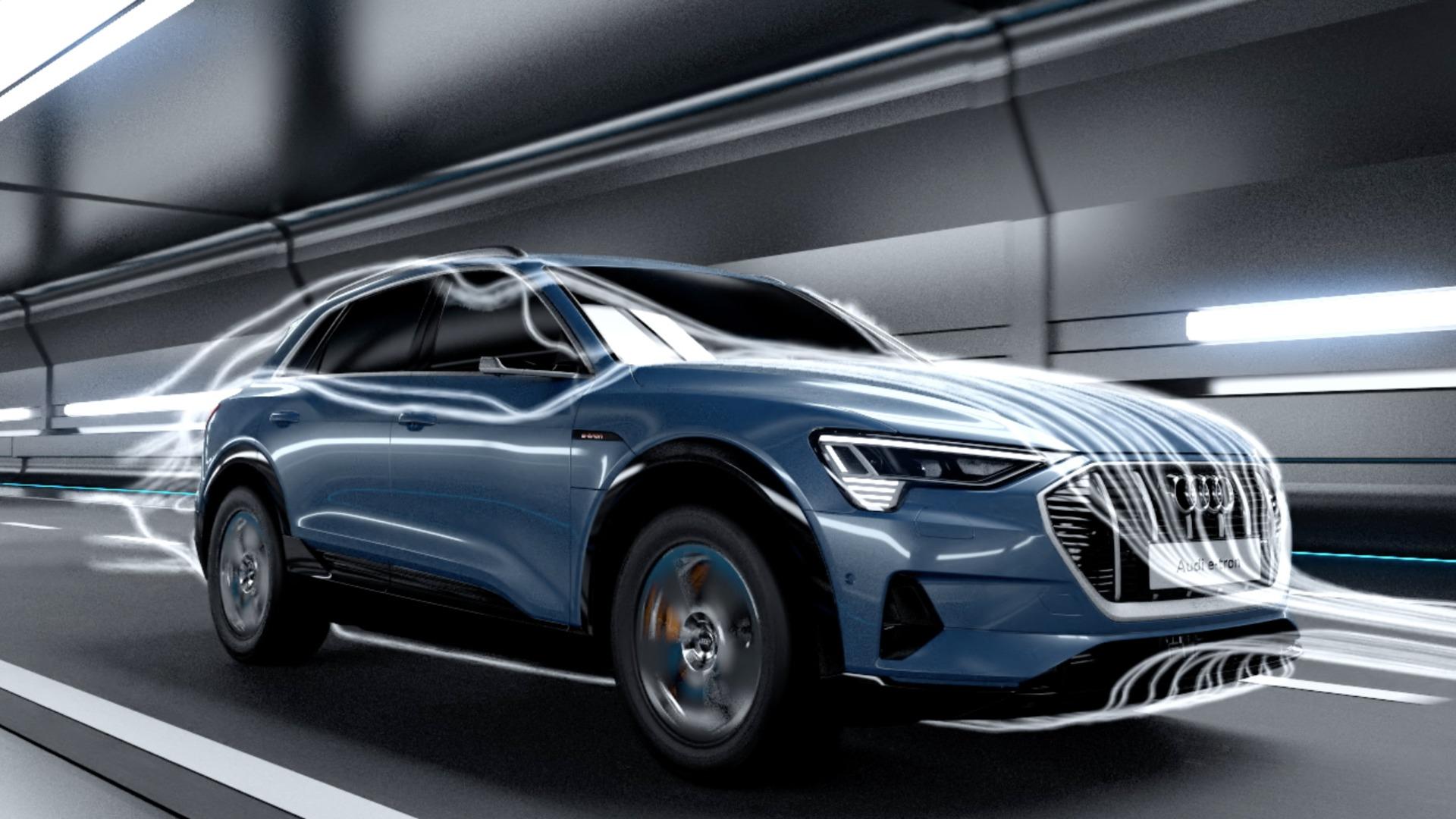 Aerodynamik des Audi e-tron (Animation)