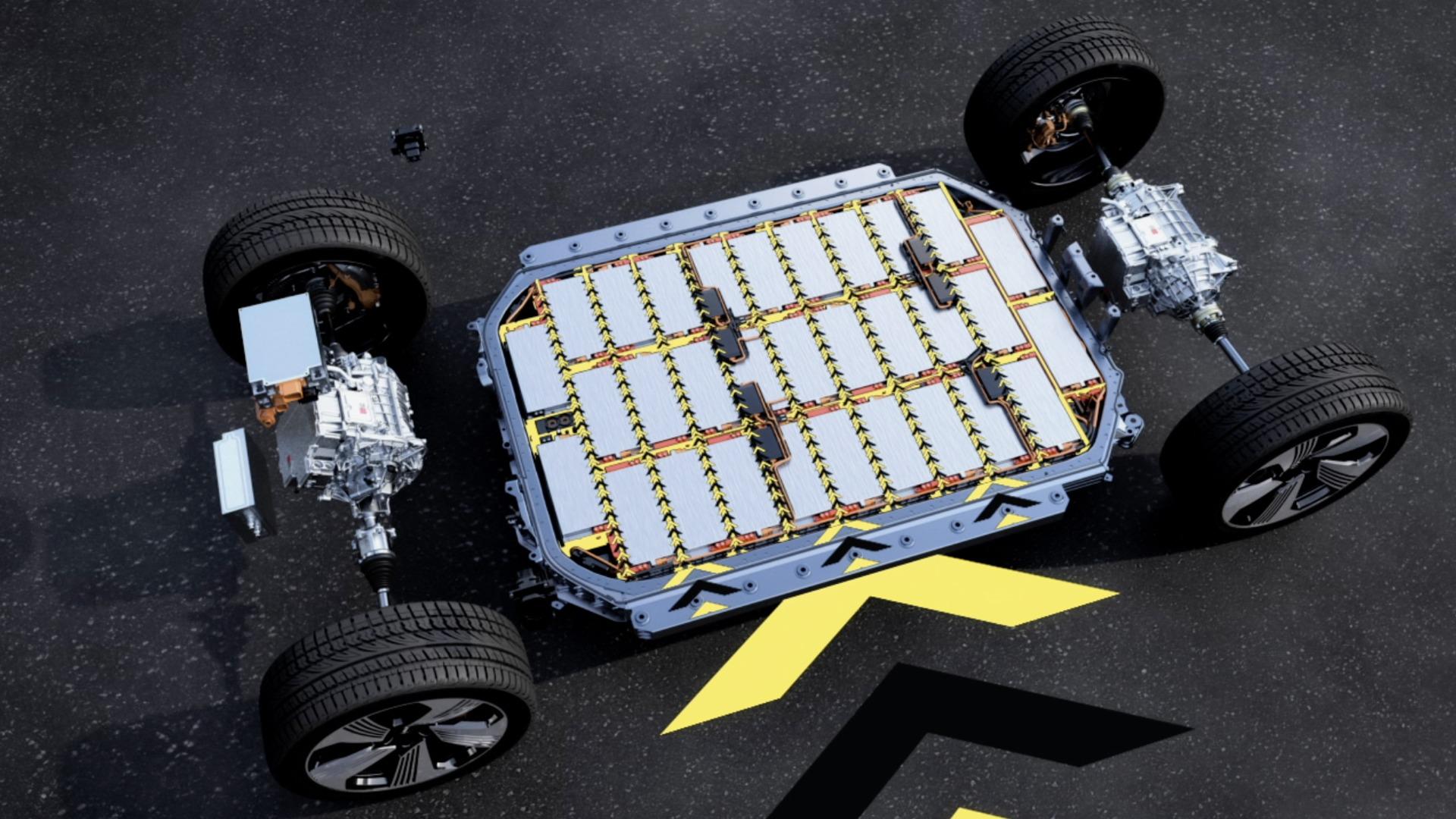 Batterie und Sicherheit im Audi e-tron (Animation)