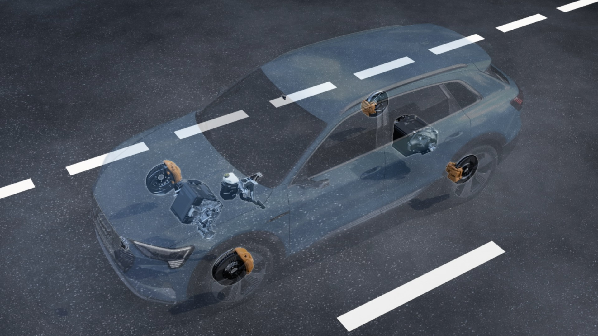 Brake-by-wire System im Audi e-tron (Animation)