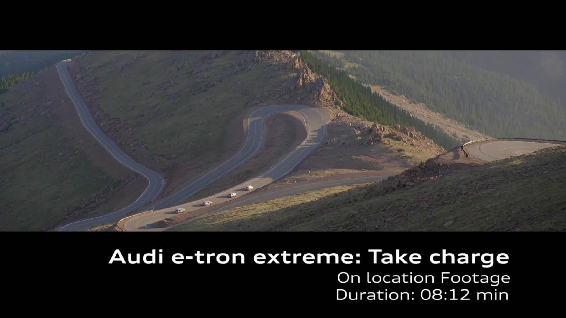 Audi e-tron-Prototyp extrem Pikes Peak Rekuperation Footage