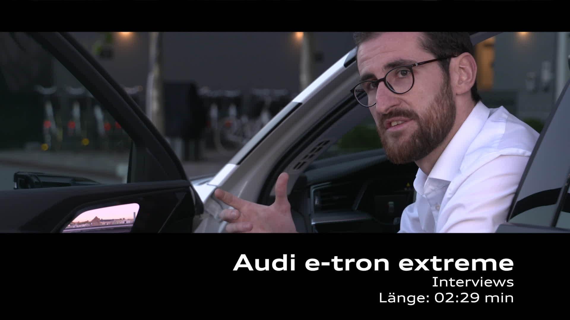 Audi e-tron extreme Interviews