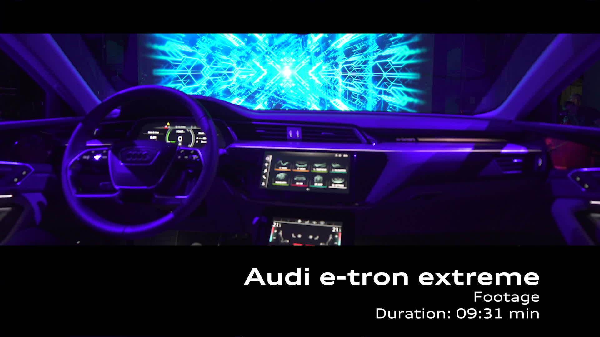 Audi e-tron extreme Footage