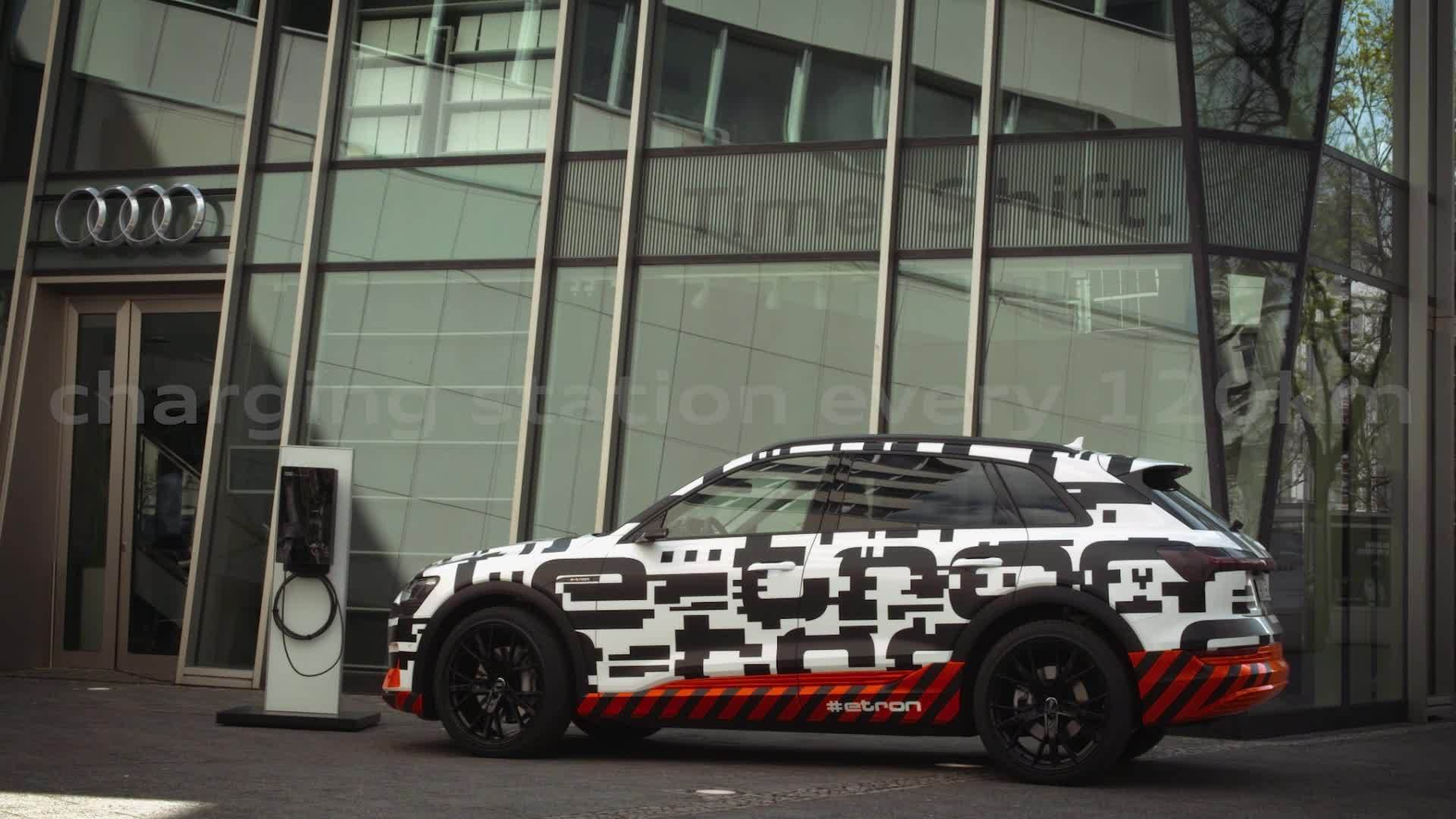 Audi e-tron prototype: Fully charged in nearly 30 minutes