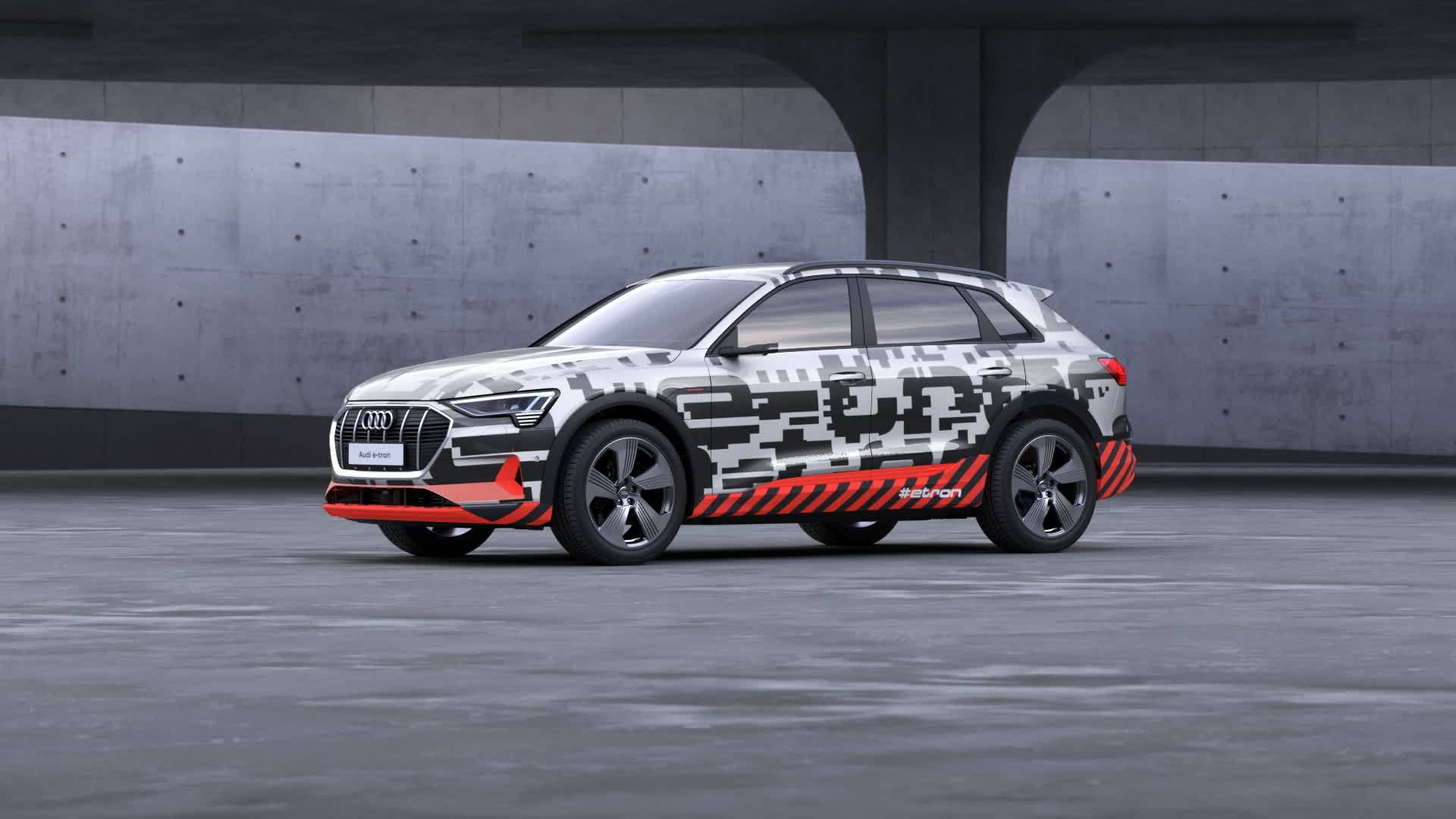 Audi e-tron Prototyp 3D Sound Animation