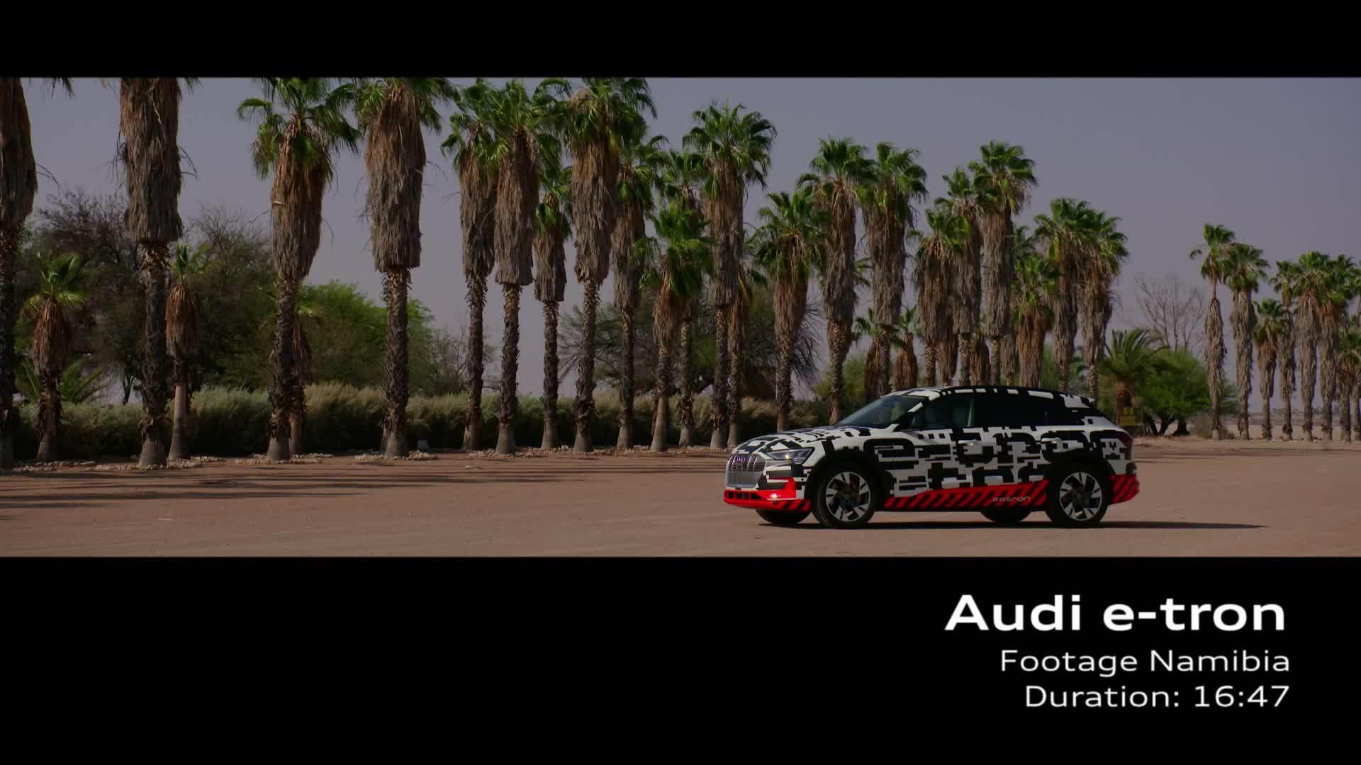 Audi e-tron-prototype in Namibia (Footage)