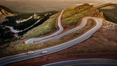 Audi e-tron Prototyp extrem: Bremstest am Pikes Peak