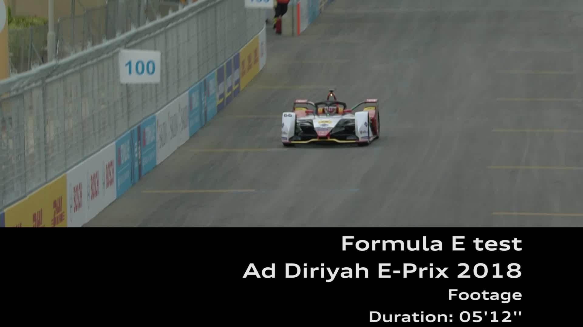 Footage Formel E test Ad Diriyah E-Prix 2018