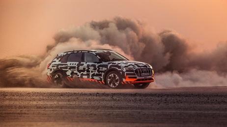Power play: The Audi e-tron prototype in Namibia