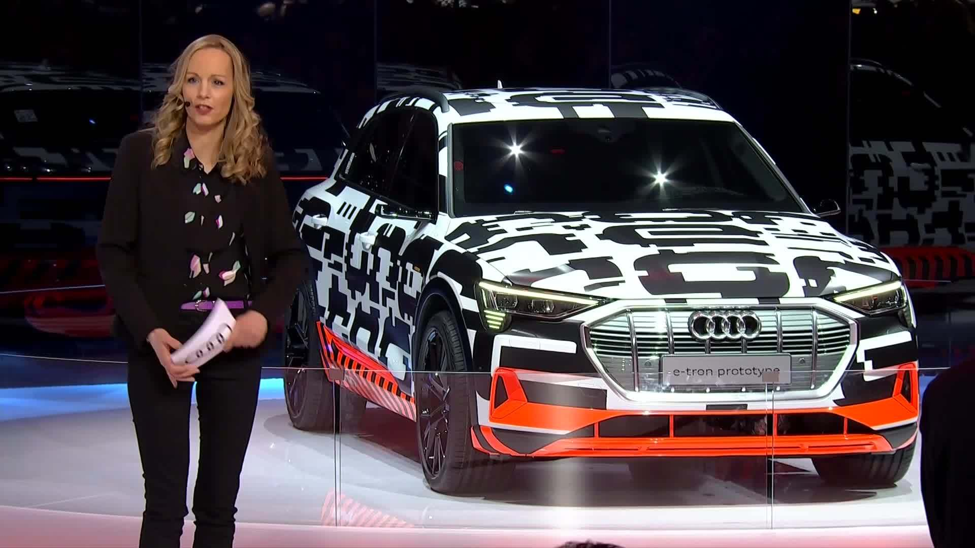 Audi A6 and Audi e-tron prototype at the Geneva Motor Show