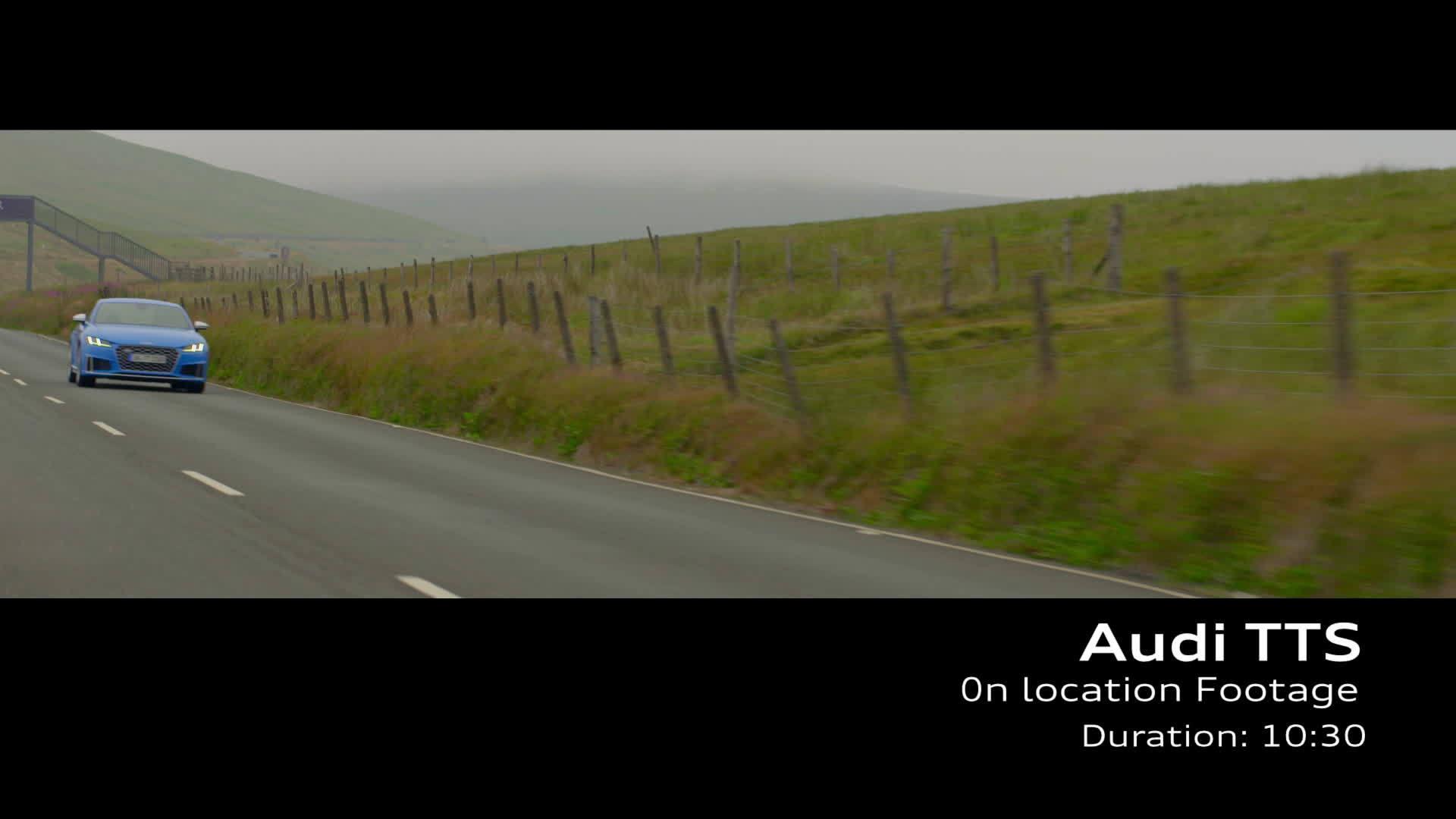 Audi TTS Footage Turboblau