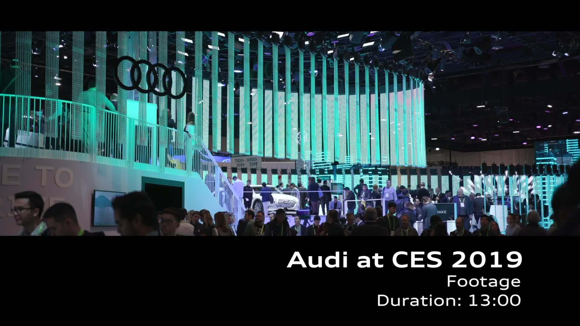 Footage Audi at CES 2019