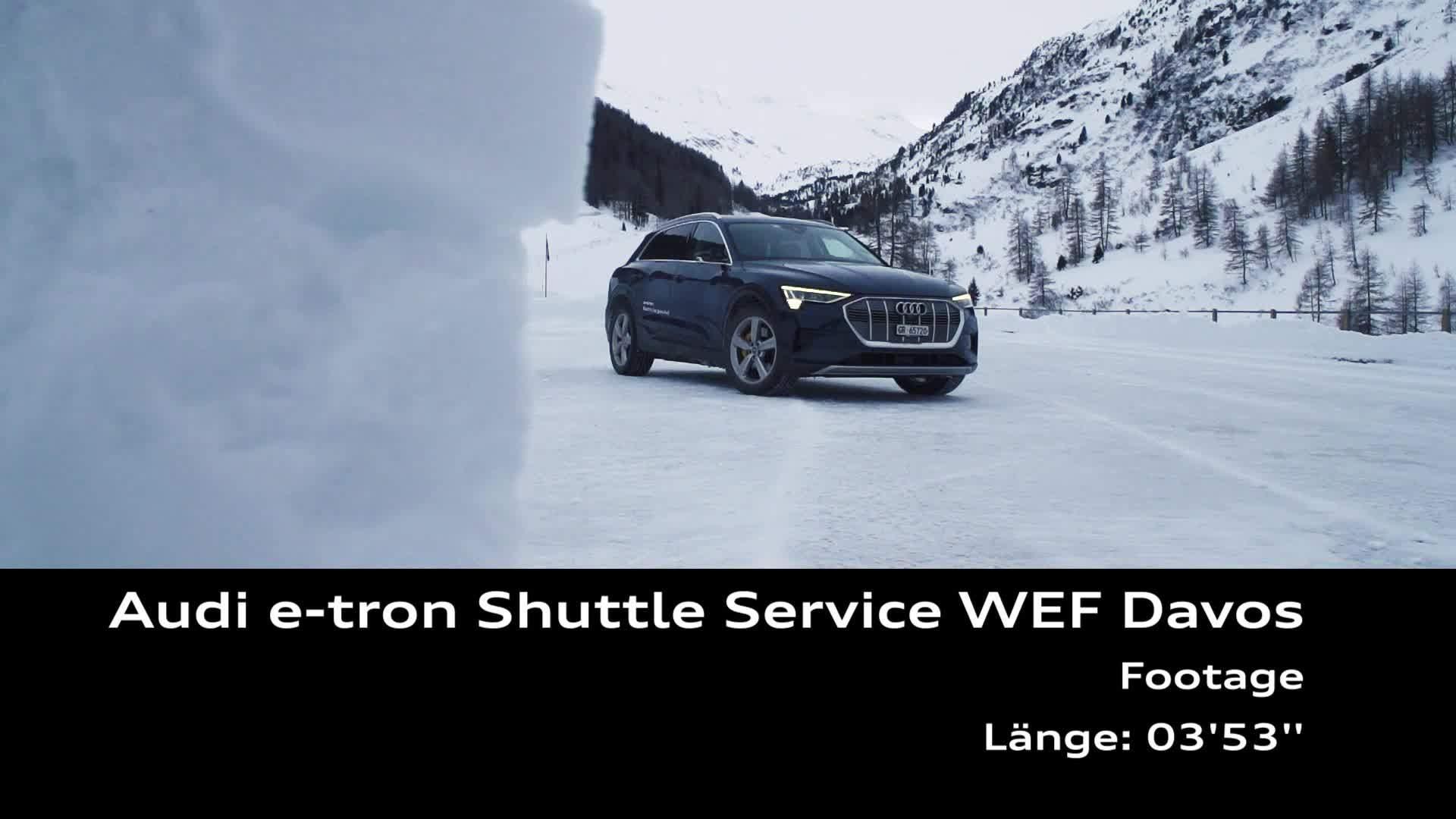 Footage Audi e-tron Shuttle Service WEF Davos