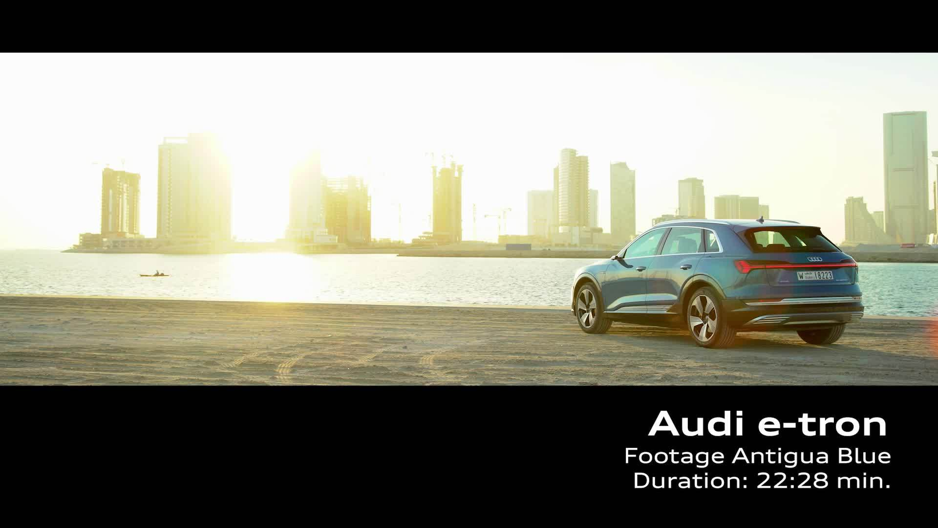 Audi e-tron Antigua Blue (Footage)