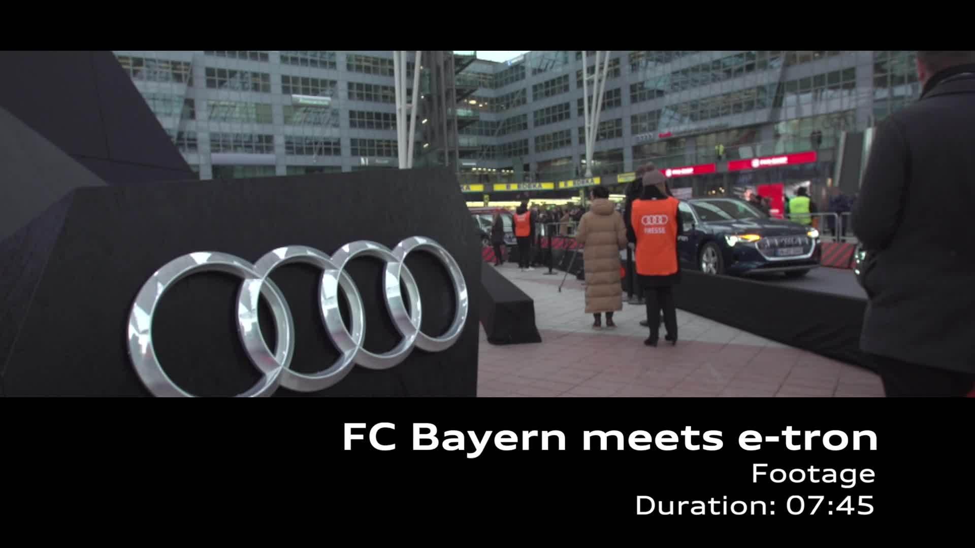 FC Bayern meets Audi e-tron (Footage)