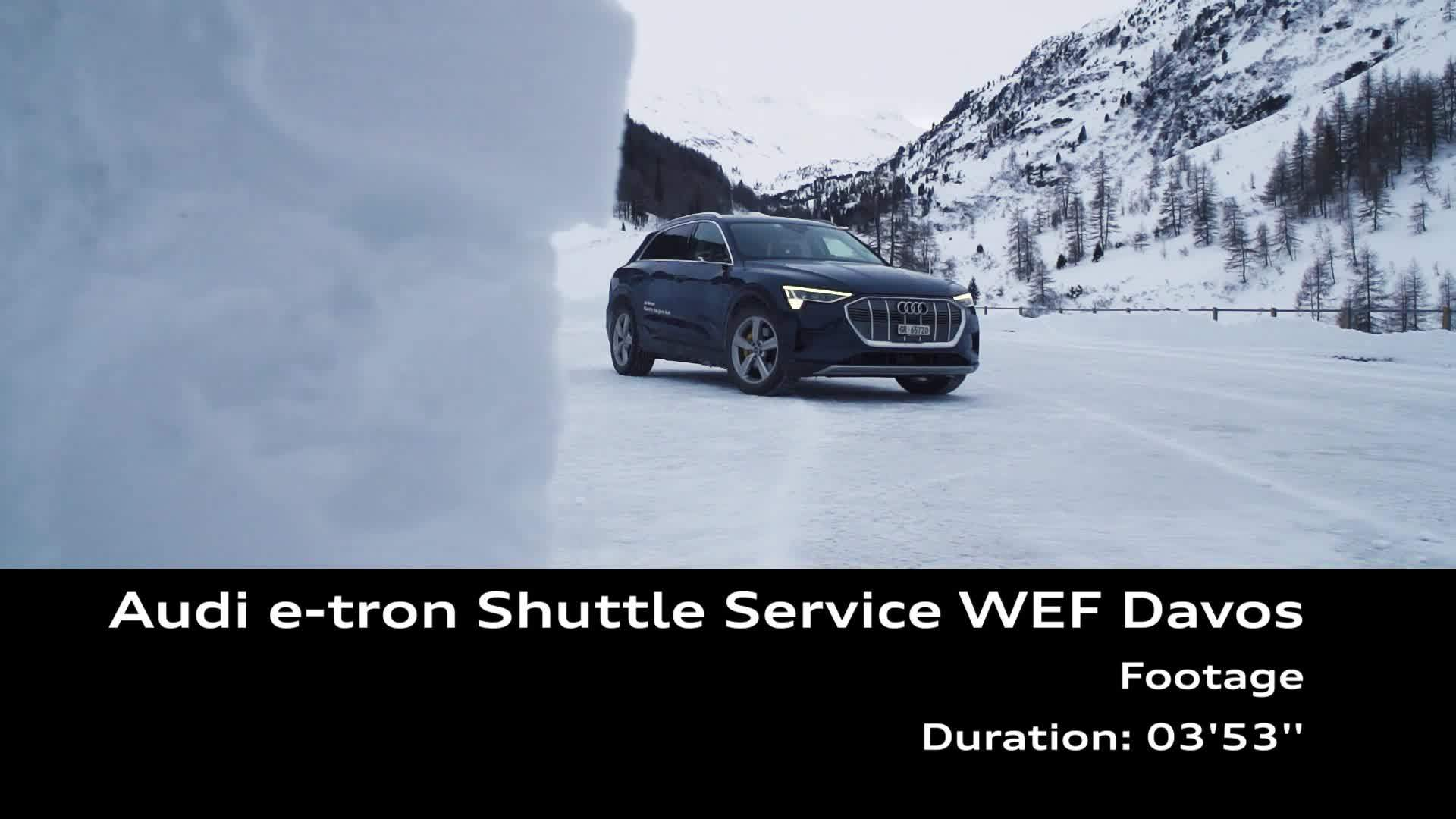 Footage Audi e-tron Shuttle Service WEF Davos