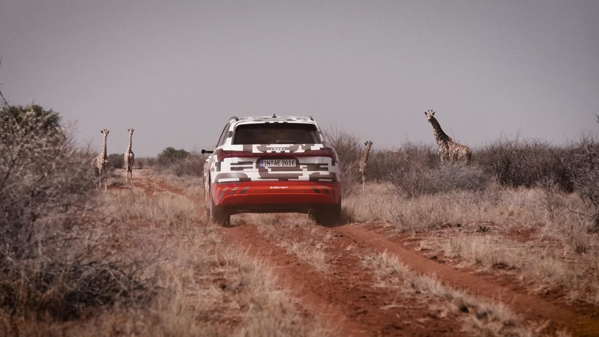Power Play: der Audi e-tron-Prototyp in Namibia