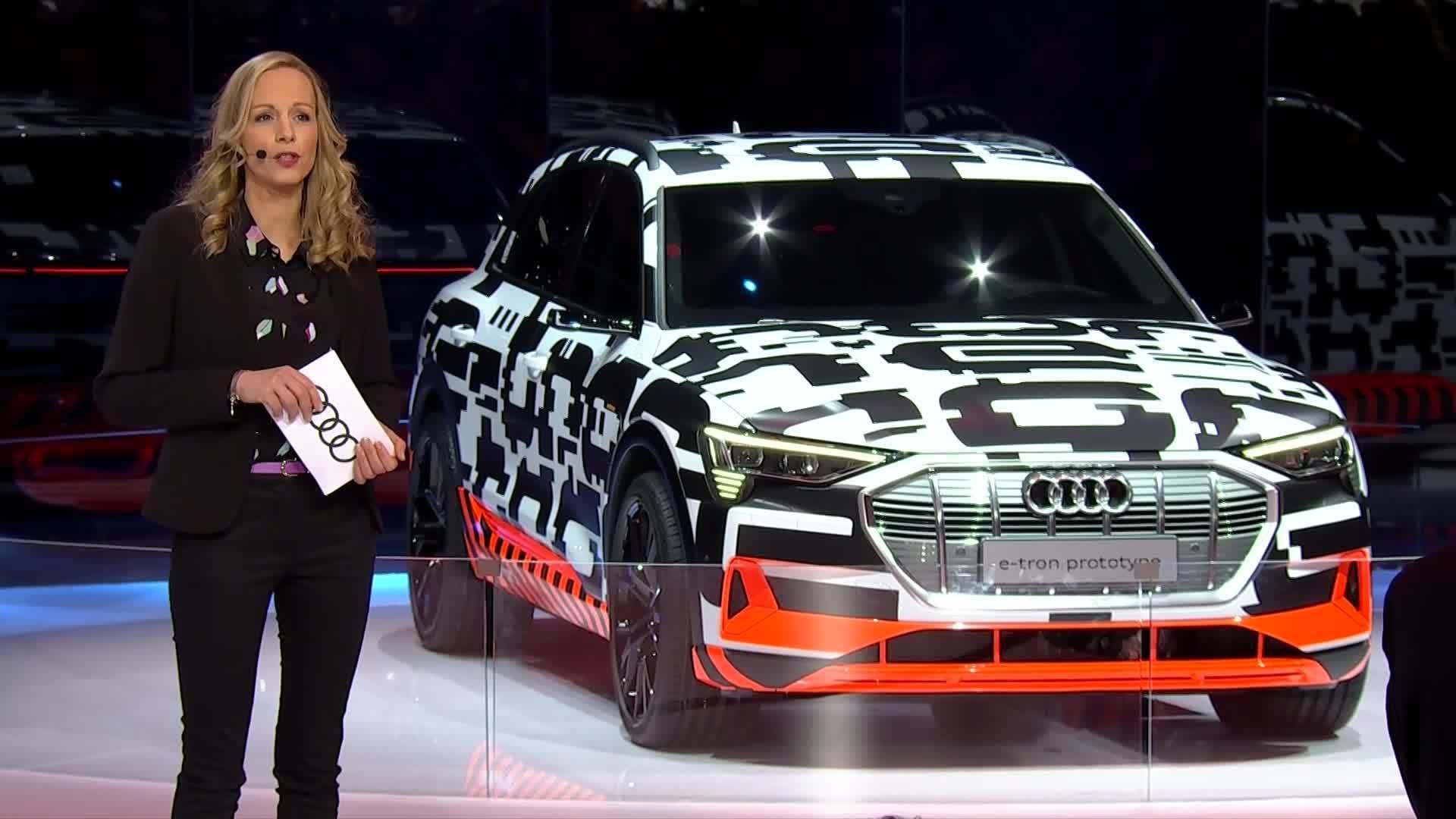 Audi A6 und Audi e-tron-Prototyp auf Genfer Salon