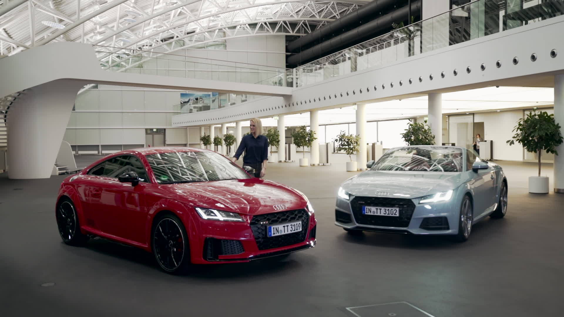 Ruth Hofmann presents Audi TT 20 years and the TT family