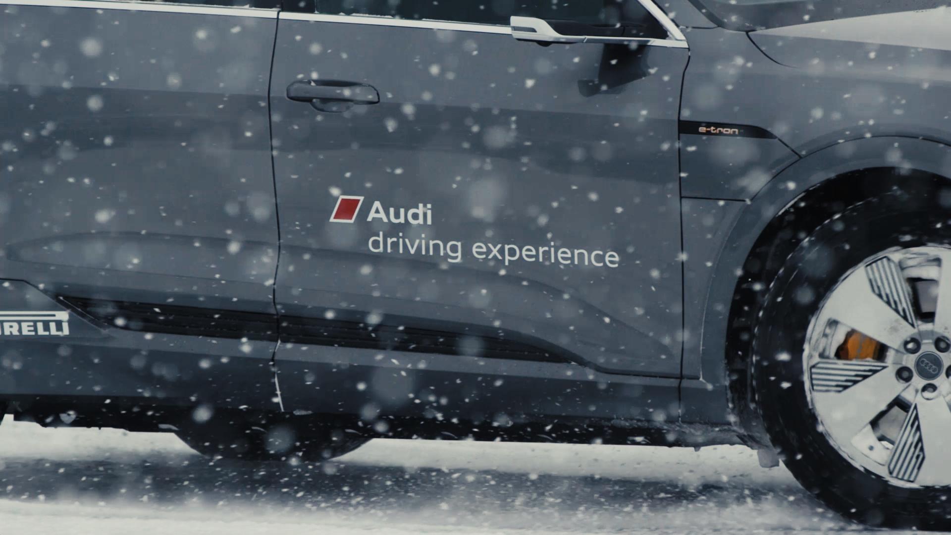 Audi e-tron auf Schnee und Eis: Audi driving experience in Schweden