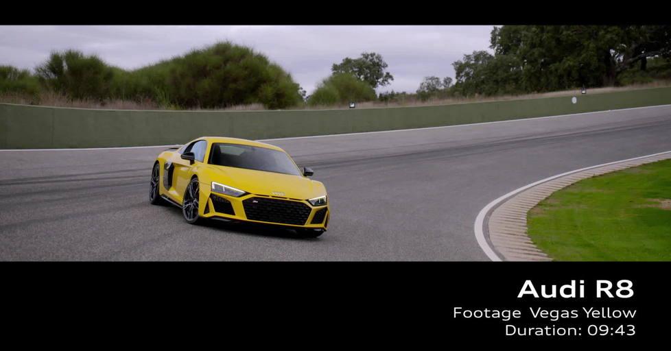 Audi R8 Footage Vegas Yellow 2018 Video Audi Mediatv