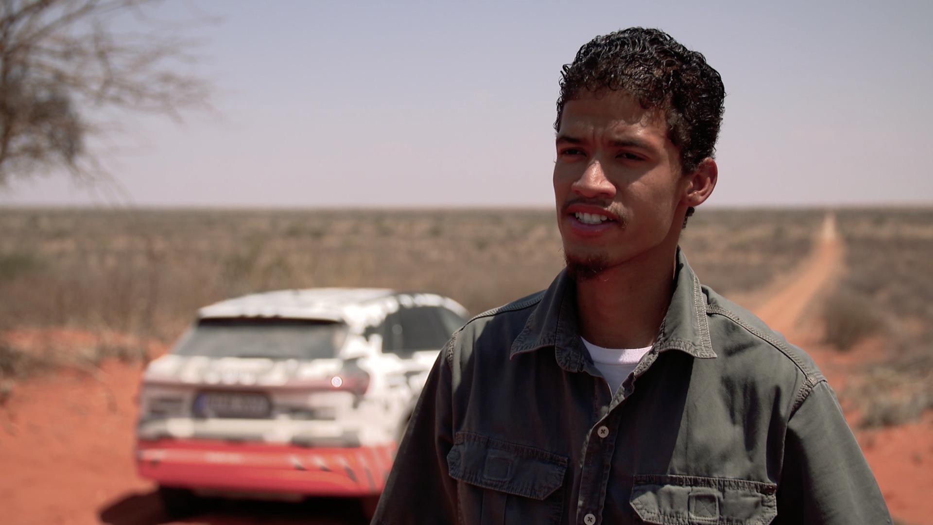 Audi e-tron: safari test in Namibia