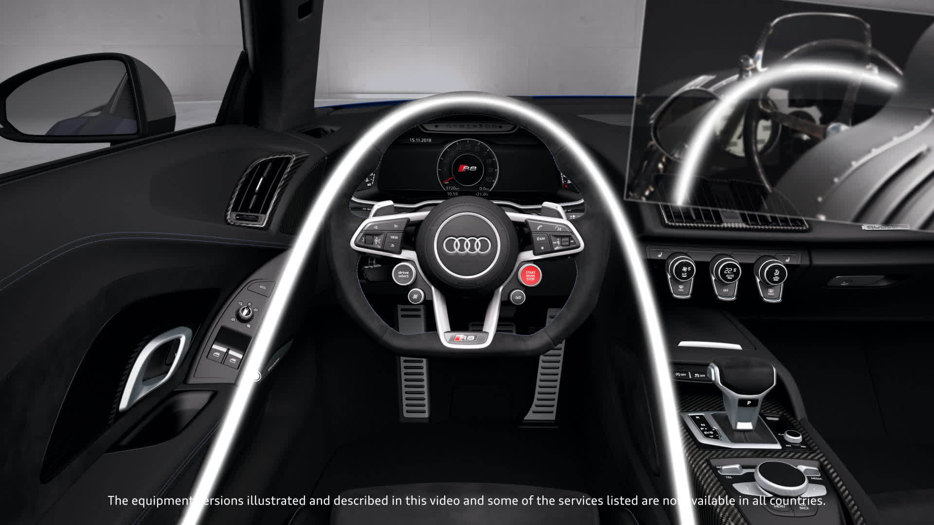 Audi R8 V10 Performance Quattro Interior Animation Video Audi Mediatv