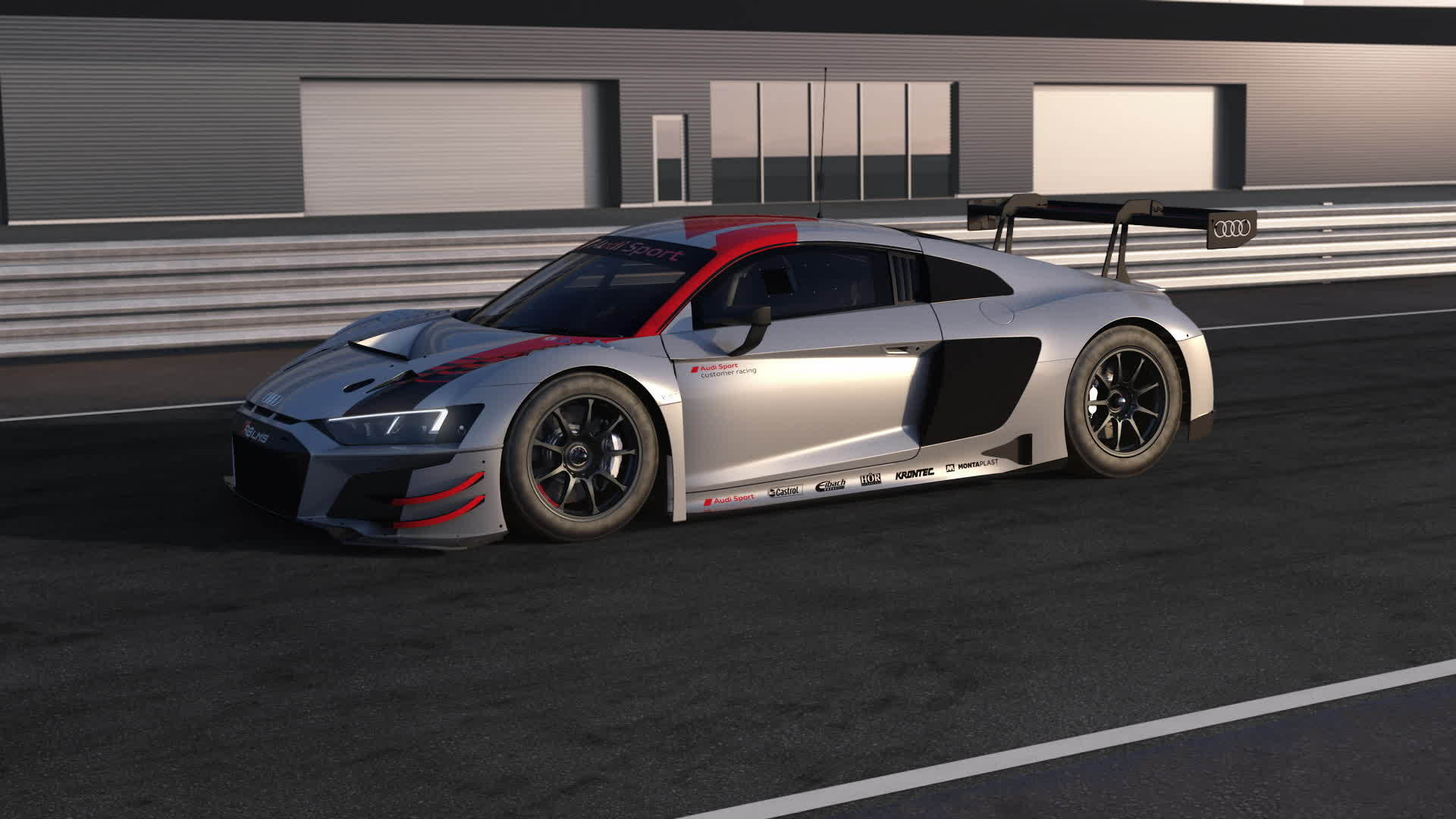 Audi R8 LMS und Audi R8 V10 performance quattro – Safety concept and drive train (Animation)