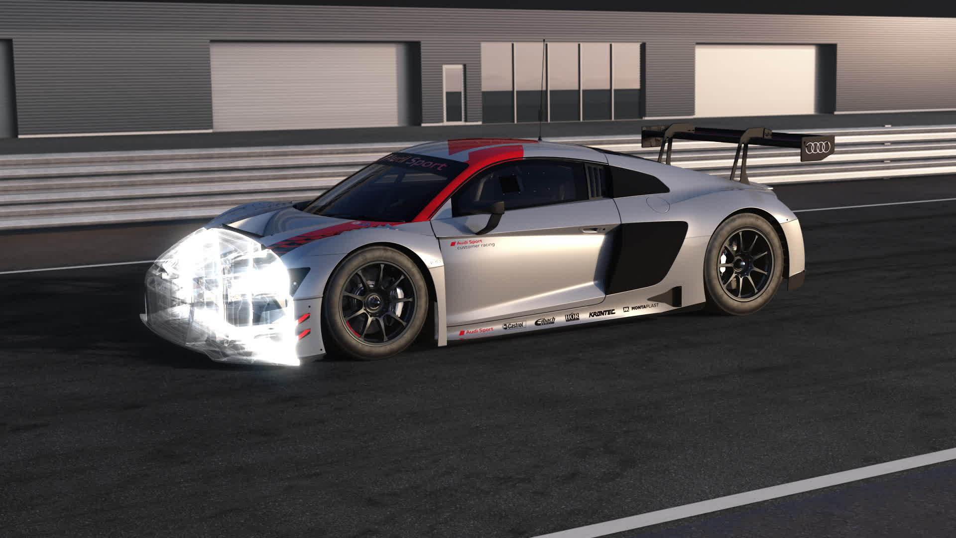 Audi R8 LMS und Audi R8 V10 performance quattro – Sicherheitskonzept und Antriebsstrang (Animation)